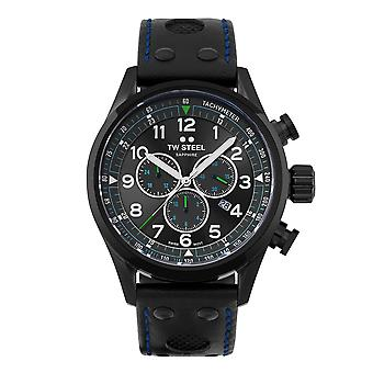 TW الصلب TWSVS306 Volante Petter سولبرغ الأسود الاتصال ساعة اليد