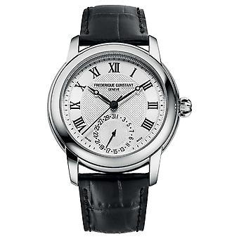 Frederique Constant Men's Classic Automatic | Zwarte leren band | Zilveren wijzerplaat FC-710MC4H6 Horloge