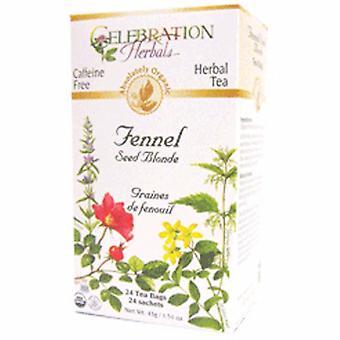 Celebration Yrttien orgaaninen fenkolin siemen blondi tee, 24 pussia