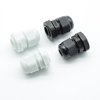 Ip68pg7 Pg9 Pg11 Pg13.5 Pg16 For 3-6.5mm-14mm  Wire Cable Ce White Black Waterproof Nylon Plastic Cable Gland Connector
