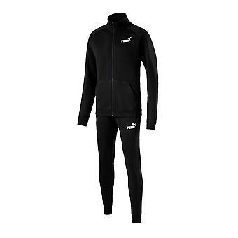 Puma Clean Mens Sports Casual Tracksuit Sweat Suit Set Black