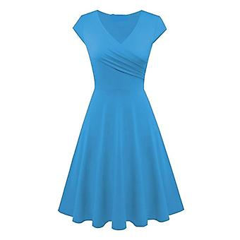 Wonderful! Beautiful Women Fashion, Deep V Neck Solid Color Tank Dress, Simple