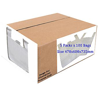 Sapphire HDPE Vest Plastic Carrier Bags Box  (Box Of 500)
