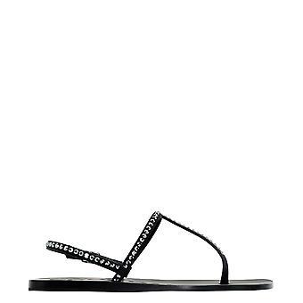 Eddy Daniele Romina556 Women's Black Satin Sandals