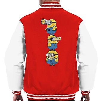 Despicable Me Minions Standing Tower Men's Chaqueta Varsity