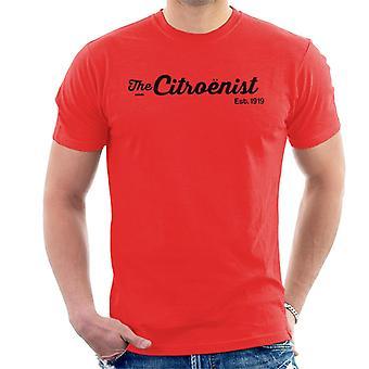 Citro?n The Citro?nst Est 1919 Black Logo Men's T-Shirt