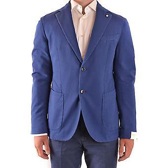 L.b.m. Ezbc215030 Men's Blue Cotton Blazer