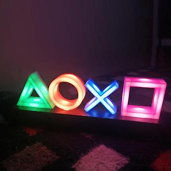 Voice Control Game Icoon licht, acryl sfeer neon bar decoratieve lamp,