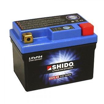 Shido Motorcycle Lithium Iron Battery LiFePO4 12V 2 4Ah 0 6kg 113x69x125mm
