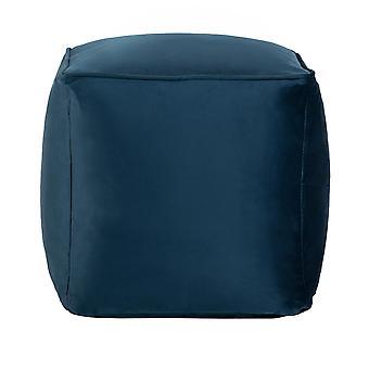 Pacfic Blue Cube Bean Bag Foot Rest Stool Pouffe Living Room Beanbag Ottoman Footstools