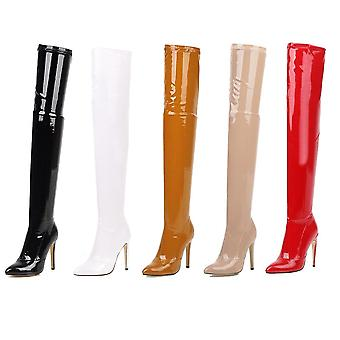 High Heels Over The Knee Boots, Stretch Thigh And High Boots Ladies Long Boots/