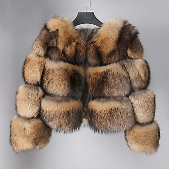 Real Fur Coat Winter Genuine Women Short Section Warm Thick Fox Fur Coat