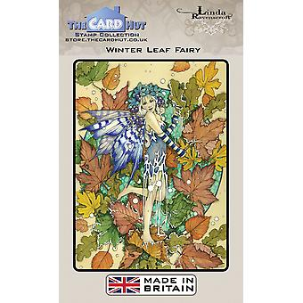 The Card Hut Winter Leaf Fairy Clear Stamps