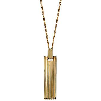 Elements Gold Colum Long Bar Pendentif - Or