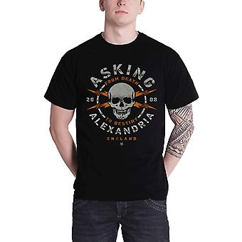 Asking Alexandria T Shirt From Death to Destiny Skull band Official Mens Black