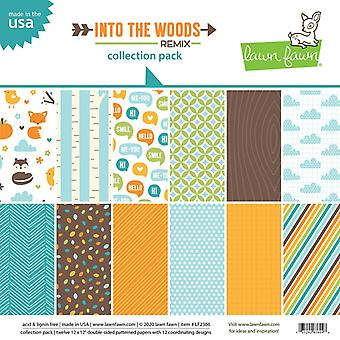 Lawn Fawn Into the Woods Remix 12x12 Inch Collection Pack