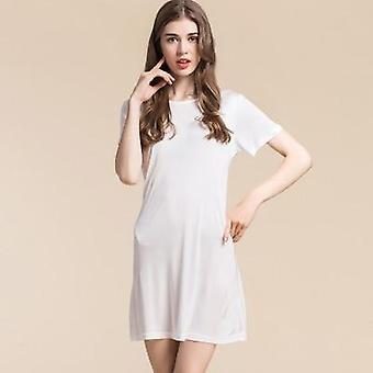 full slips silke kortermet slip anti tømt kjole undertøy behagelig