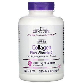 21st Century, Super Collagen Plus Vitamin C, 6,000 mg, 180 Tablets
