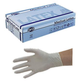 PRO Small Powder Free Medical Latex Gloves (Pack Of 100)