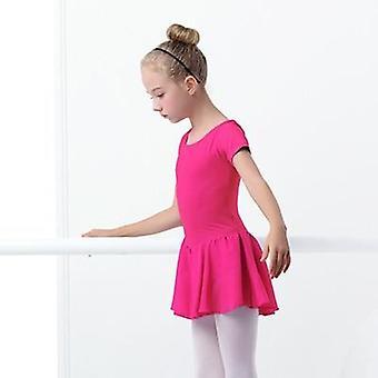 Short Sleeve Ballet Dancewear Chiffon Skirts
