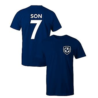 Sohn Heung-Min 7 Tottenham Hotspur Stil Spieler Fußball T-Shirt