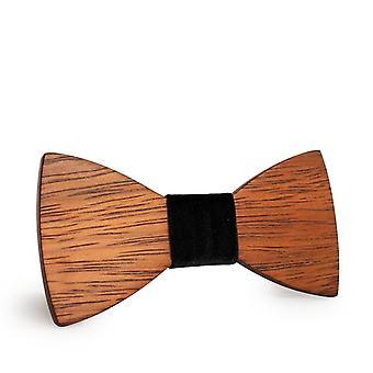 Mahoosive Gravata Plaid lemn bow tie de nunta cravată