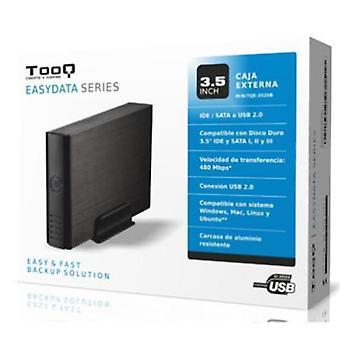 """External Box TooQ TQE-3520B HD 3.5"""" IDE / SATA III USB 2.0 Black"""