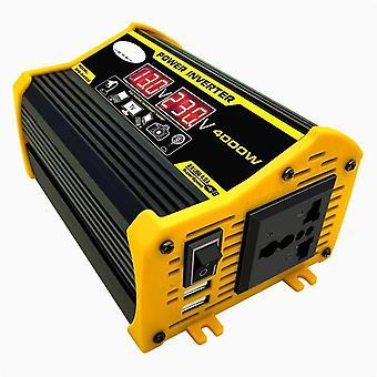 4000W 12v إلى 220v/110v أدى عرض سيارة العاكس محول الجهد المزدوج USB تعديل موجة جيبية