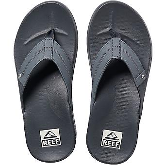 Reef Mens Cushion Phantom Summer Beach Holiday Flip Flops Sandals - Dark Grey