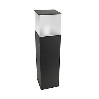 Bolardo Cubik, 60cm, Aluminio Y Policarbonato, Gris Urbano.