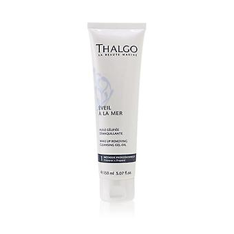 Thalgo Eveil A La Mer Make-Up Removing Cleansing Gel-Oil (For Face & Eyes - Waterproof) (Salon Size) 150ml/5.07oz