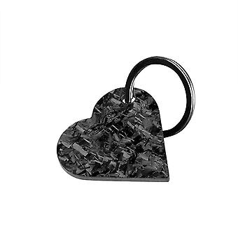 Forged Carbon Fiber Heart Shaped Keychain