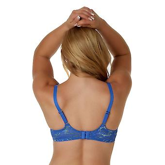 Efter Eden D-Cup & Up Anna 20.20.5165-438 Women's T.T. Blue Lime Floral Lace Non-Padded Underwired Full Cup Bh