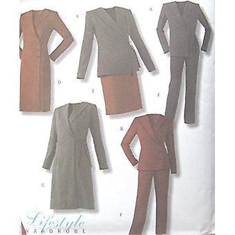 Butterick نمط الخياطة 4298 يخطئ سترة معطف معطف تنورة السراويل حجم السراويل 6-12