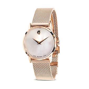 Movado Museum Classic Rose Gold-Tone Mesh Ladies Watch 0607352