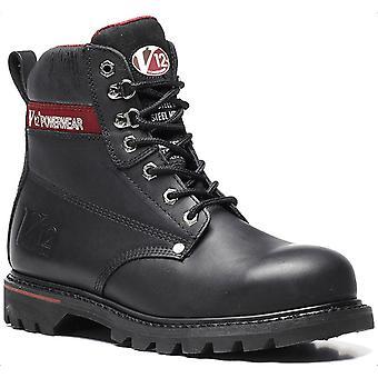 V12 V1235 Boulder Black Hide Derby Boot EN20345:2011-S3 Size 8