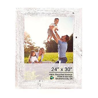 """24"""" x 30"""" Rustieke boerderij white wash houten frame"""