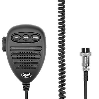 6-pin microphone with metal hangers for HP 8000L / 8001L / 8024/9001 PRO / 9500/8900 PNI Escort radio stations