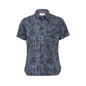 Thomkins Orgaaninen Puuvilla Hawaiian Print Shirt Navy