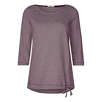 Cecil 313869 Desi T-Shirt, Multicolored (Red Wine 21927), X-Small Woman