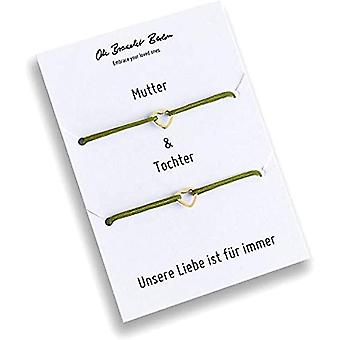 Set of 2 bracelets for mom and daughter, gold plated, 21 colors, nylon, for daughter, for mom, for every look and Color: Ref. 7141262342934
