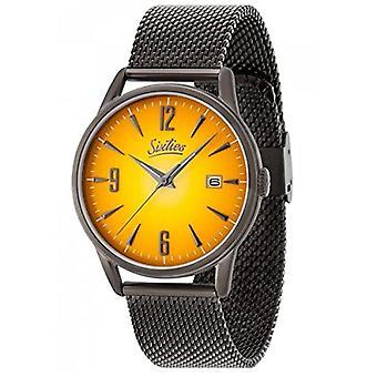 60 Analog Quartz Watch Unisex com cinta de aço inoxidável SIX500GUME-12