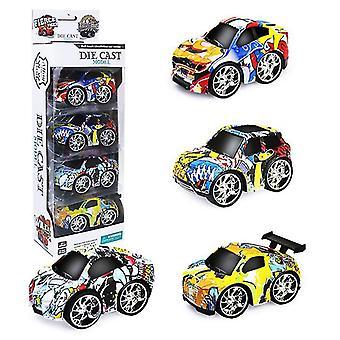 Urheiluauto lasten q versio vetää takaisin seosauto, graffiti simulaatio auto malli lelu az18189
