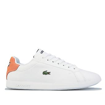 Women's Lacoste Graduate Leather Trainers in White