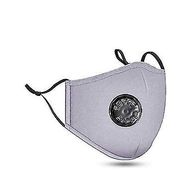 رمادي 5pcs أزياء واقية القطن غطاء الوجه الفم تغطية az10832 قابل للغسل