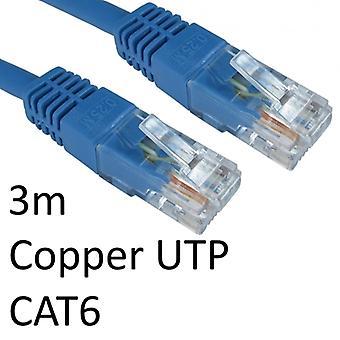 RJ45 (M) zu RJ45 (M) CAT6 3m Blau OEM Geformter Stiefel Kupfer UTP Netzwerkkabel