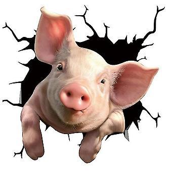 """Funny Pig krakket Bil Sticker Bil Window Meme Kvæg Decal 12 X 12 """"Pvc Bil Sticker (Gris 03)"""