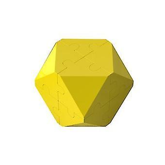 3d Intelligence Rubik's Cube Puzzle Building Blocks (Żółty)