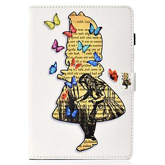 Case For Ipad 9 10.2 2021 Cover With Auto Sleep/wake Pattern Magnetic - View Of Back