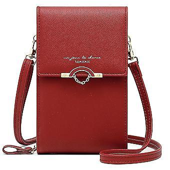 Mode vertikale Mini Handy Messenger Bag (Rot)